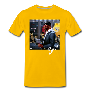 Bron Tee. - sun yellow