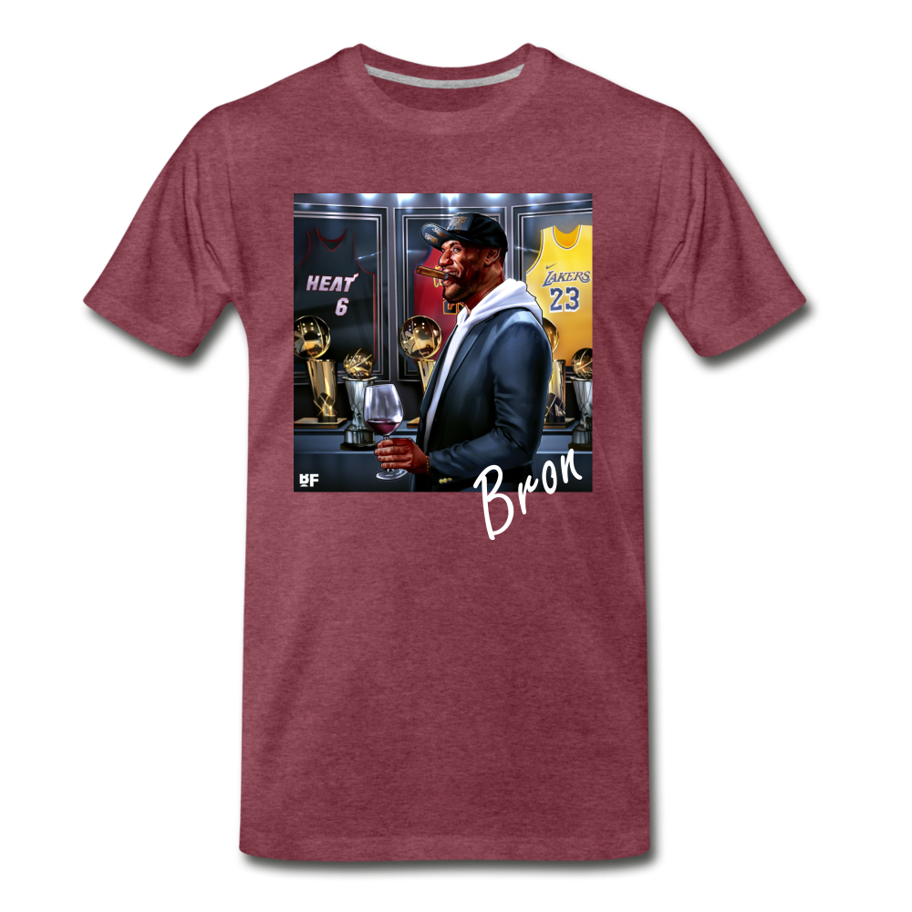 Bron Tee. - heather burgundy