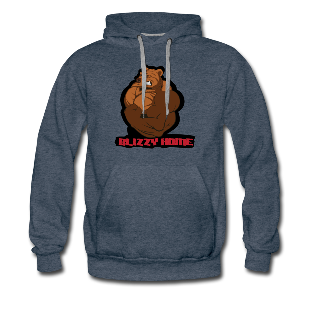 Blizzy Home Signature Hoodie. - heather denim