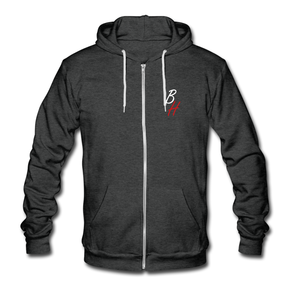 Blizzy Home Signature Zipped Hoodie - charcoal gray