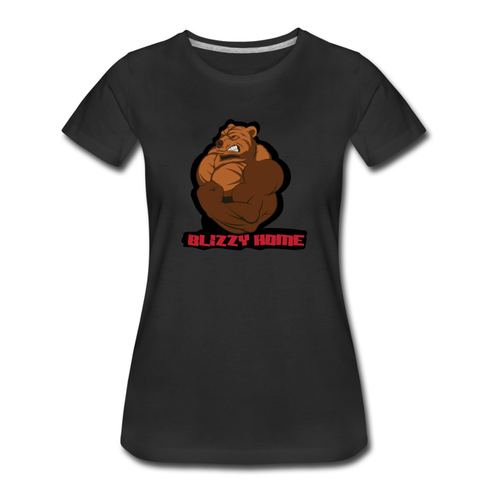 Blizzy Home Signature Women's Tee. - black