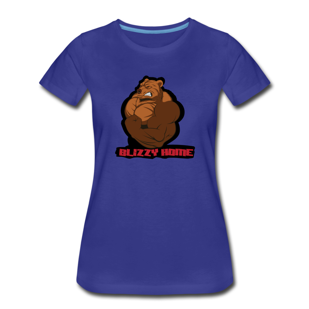 Blizzy Home Signature Women's Tee. - royal blue