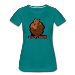 Blizzy Home Signature Women's Tee. - teal