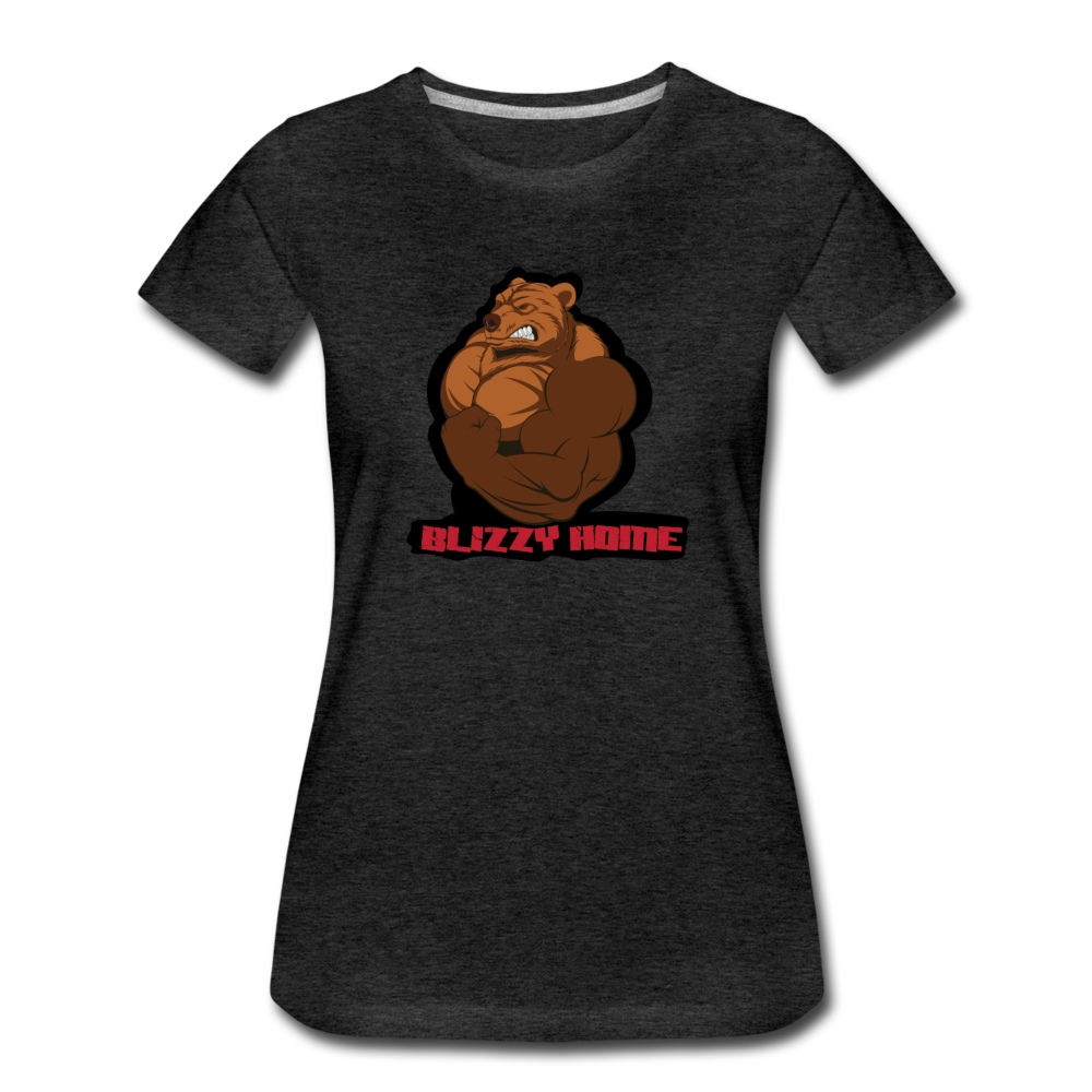 Blizzy Home Signature Women's Tee. - charcoal gray