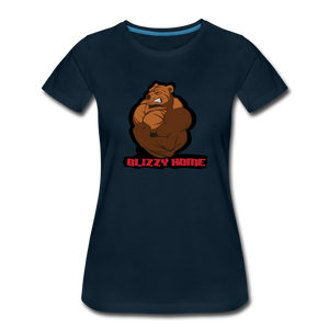 Blizzy Home Signature Women's Tee. - deep navy