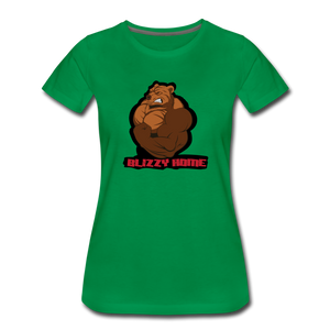 Blizzy Home Signature Women's Tee. - kelly green