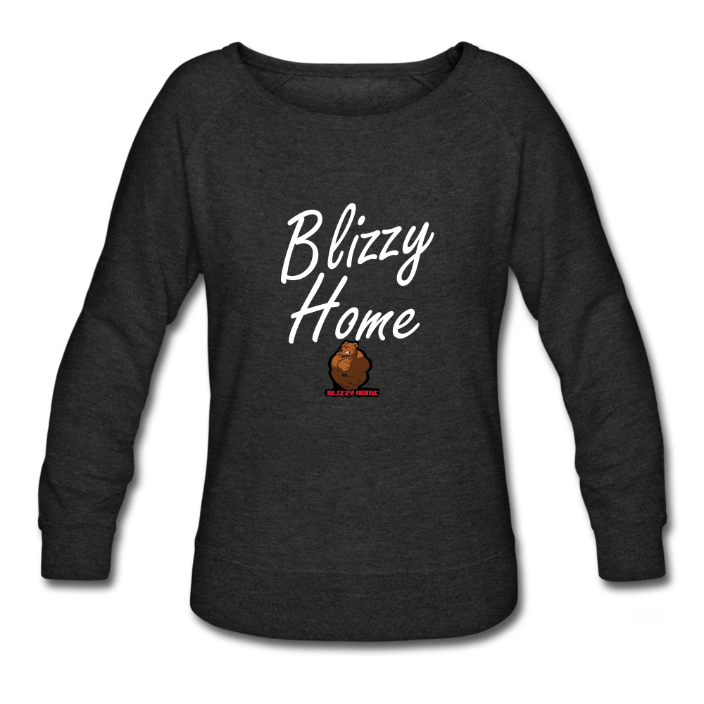 Blizzy Home Signature Women's Crewneck Sweatshirt - heather black