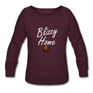 Blizzy Home Signature Women's Crewneck Sweatshirt - plum