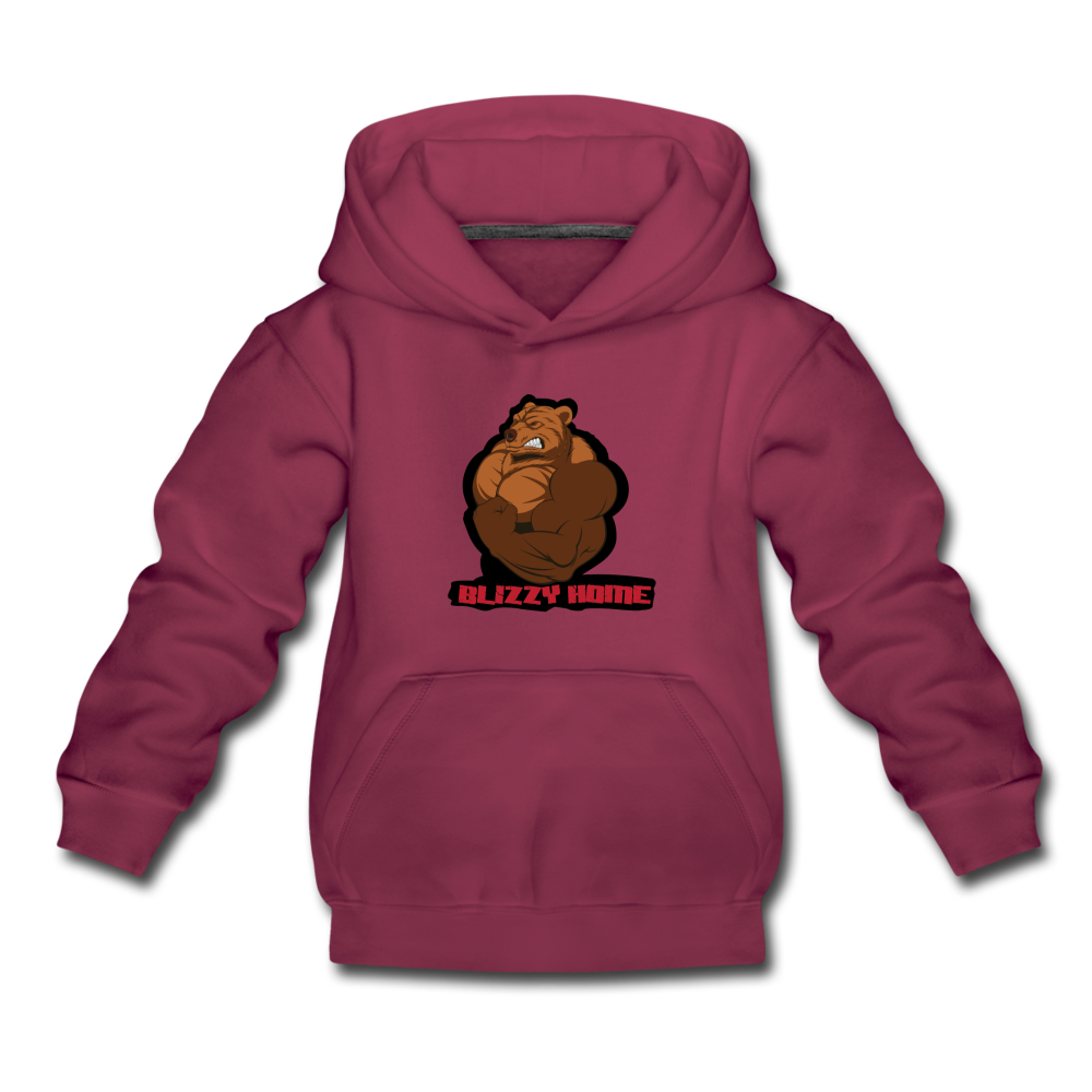 Blizzy Home Signature Kids Hoodie - burgundy