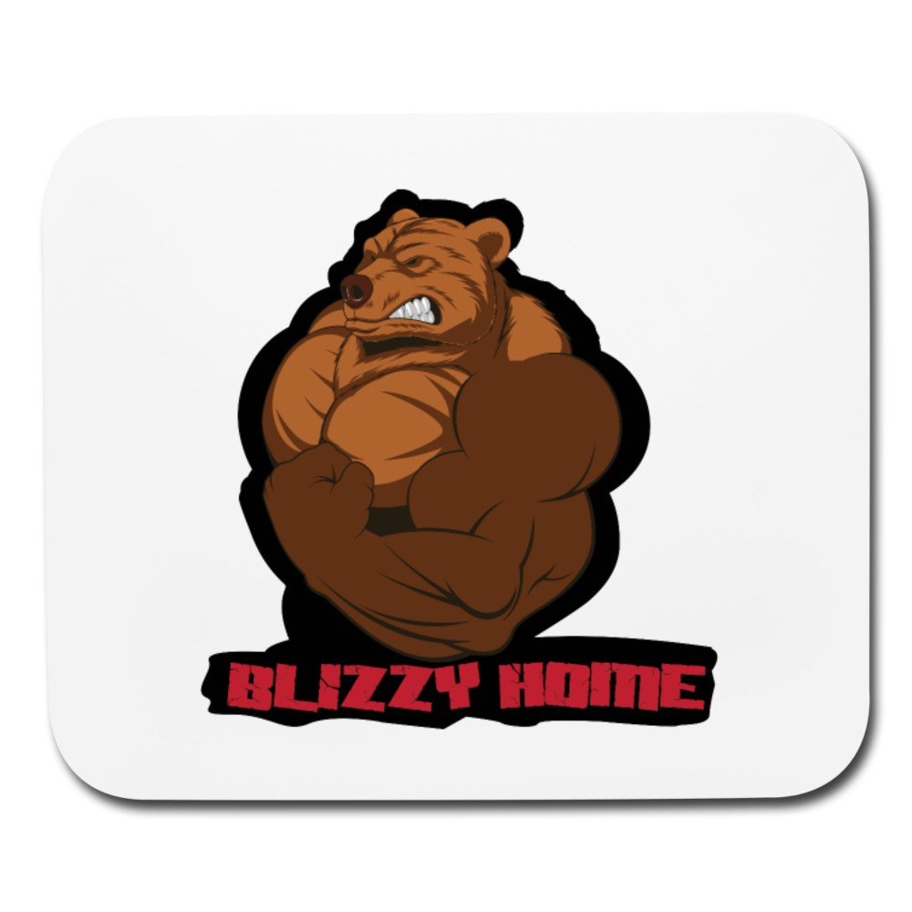 Blizzy Home Signature Mouse Pad - white
