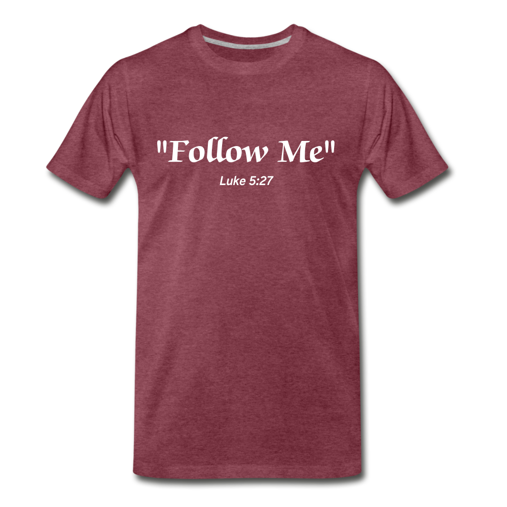Follow Me Tee. - heather burgundy