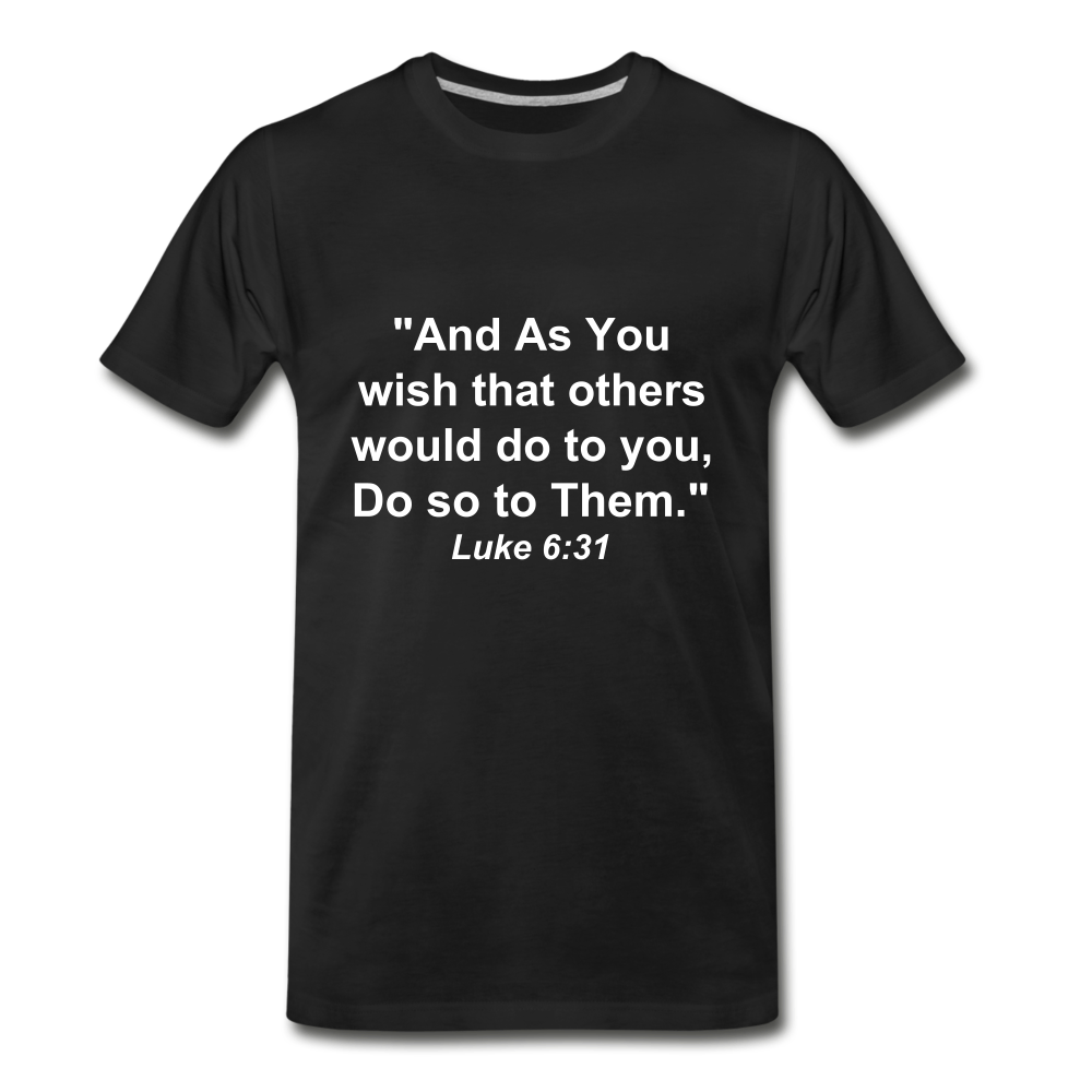 Do So To Them Tee. - black