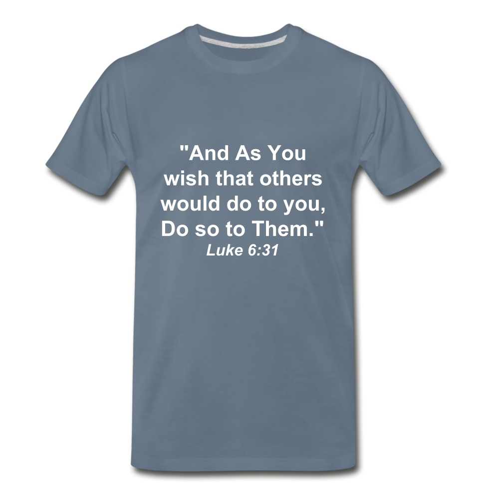 Do So To Them Tee. - steel blue