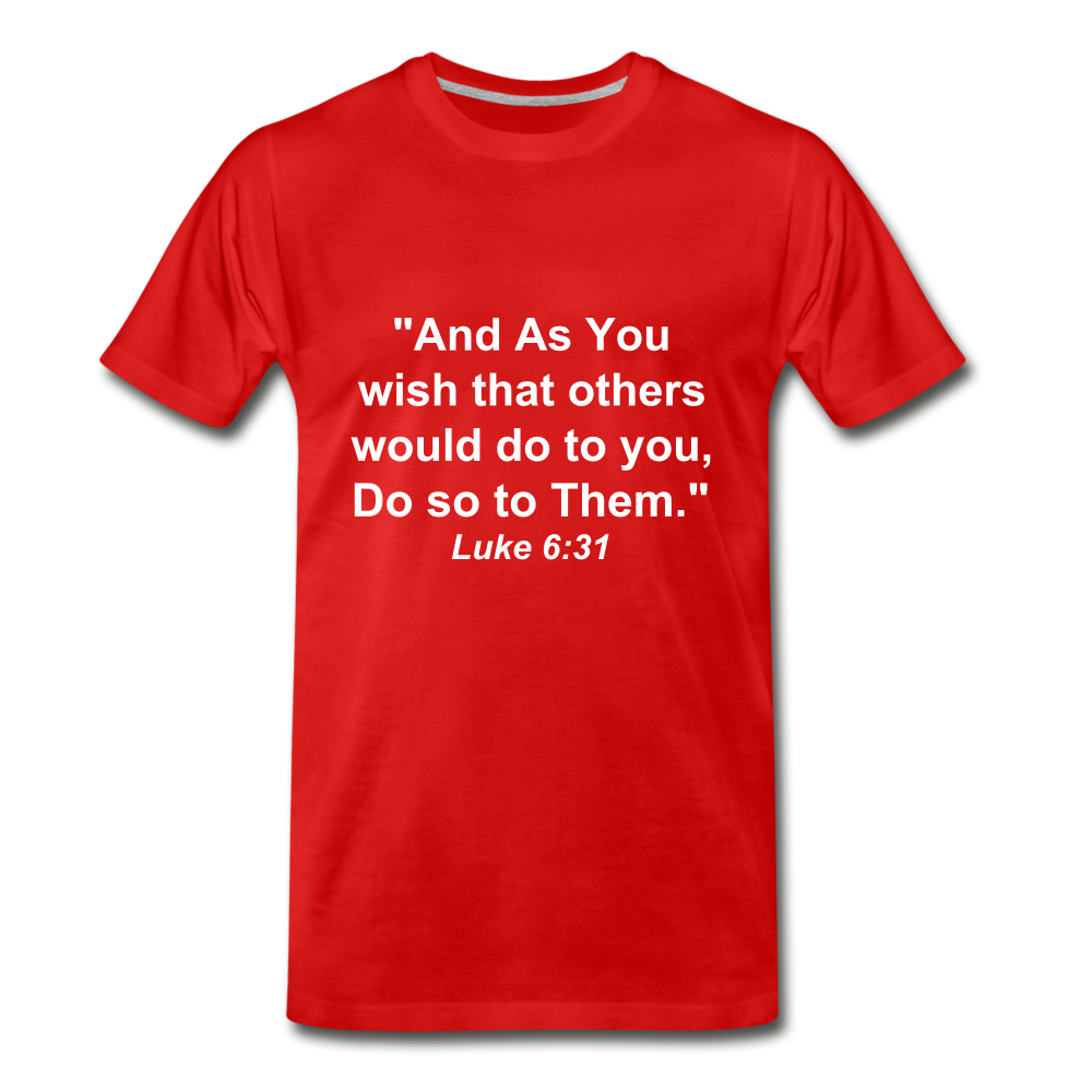 Do So To Them Tee. - red