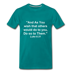 Do So To Them Tee. - teal