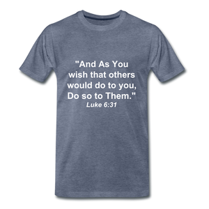 Do So To Them Tee. - heather blue
