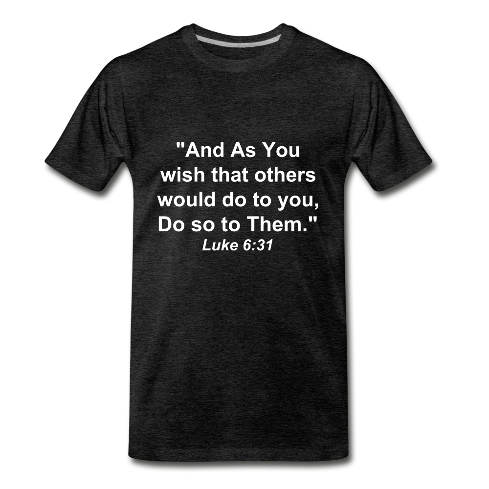 Do So To Them Tee. - charcoal gray