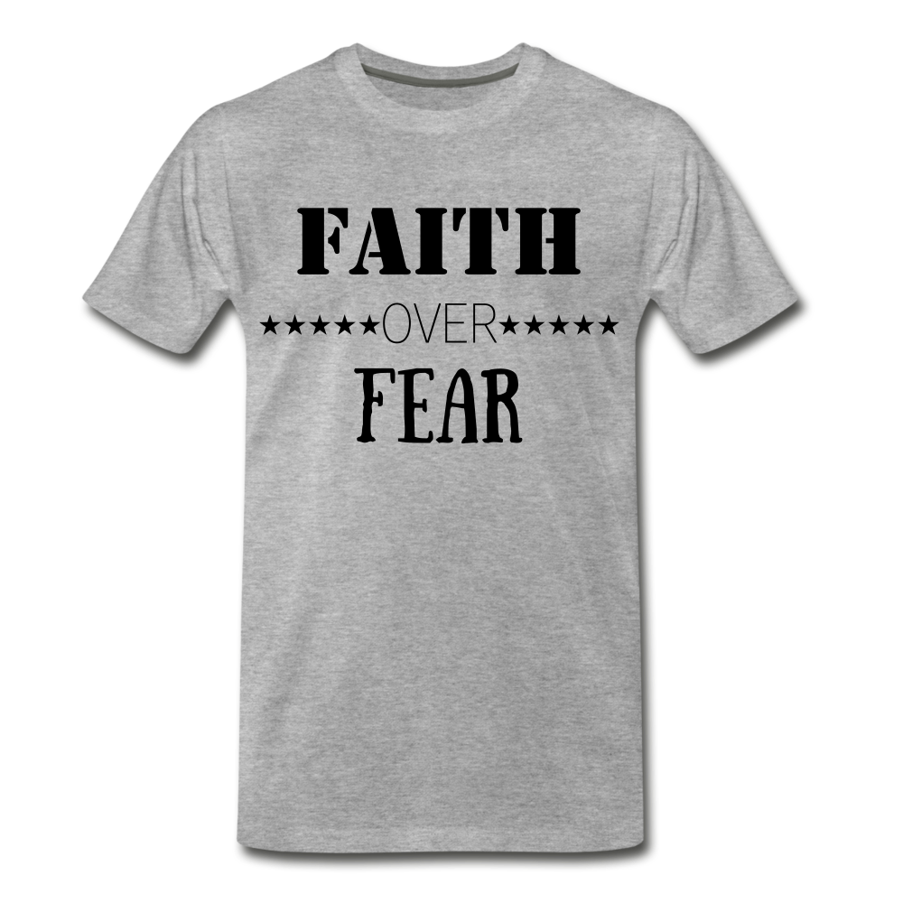 Faith Over Fear Tee. - heather gray