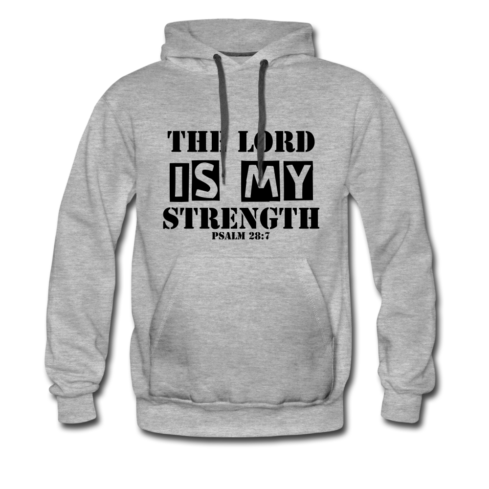Lord Is Strength Hoodie - heather gray