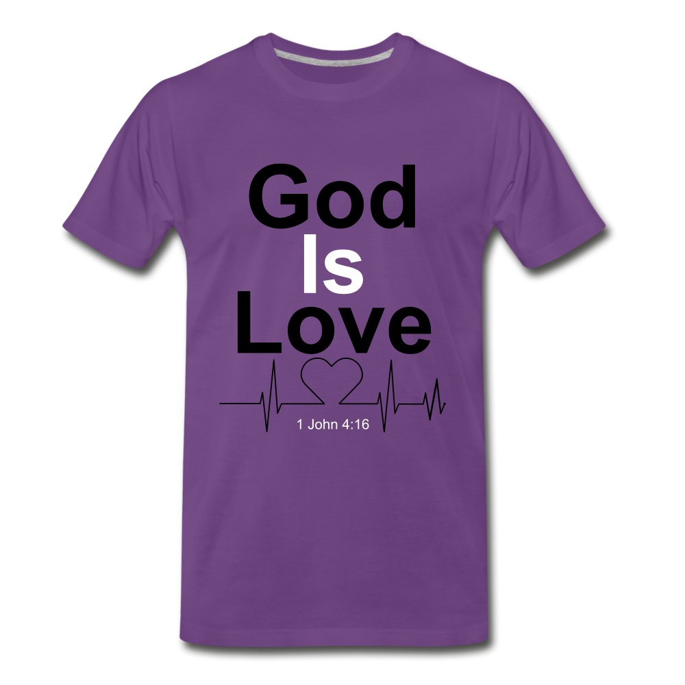 God Is Love Tee. - purple