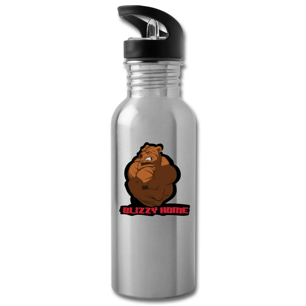Blizzy Home Signature Water Bottle - silver