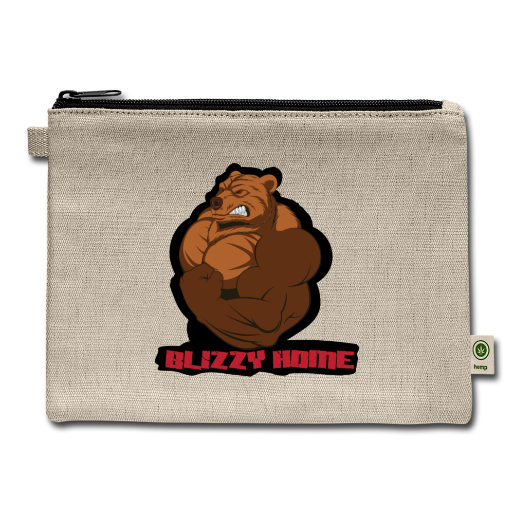 Blizzy Home Signature Carry All Pouch - natural