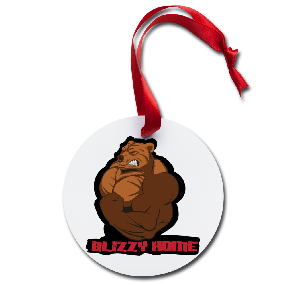 Blizzy Home Signature Holiday Ornament - white