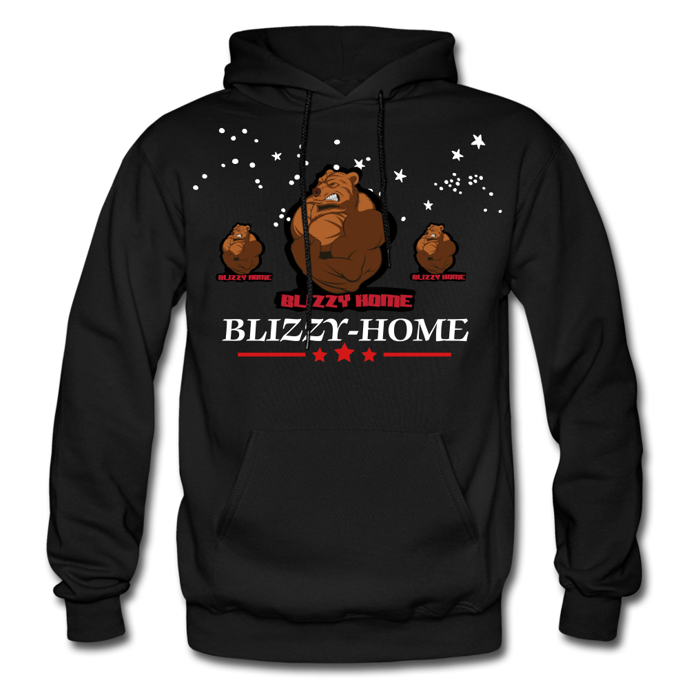 Blizzy Home Signature Stars Hoodie - black