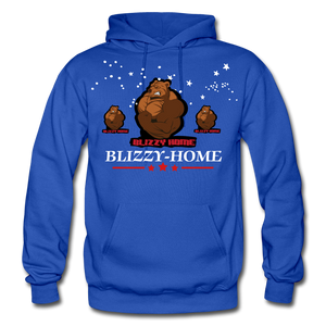 Blizzy Home Signature Stars Hoodie - royal blue