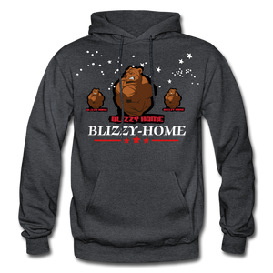 Blizzy Home Signature Stars Hoodie - charcoal gray
