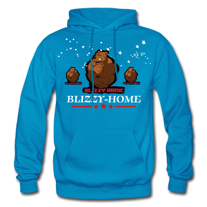 Blizzy Home Signature Stars Hoodie - turquoise