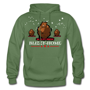 Blizzy Home Signature Stars Hoodie - military green