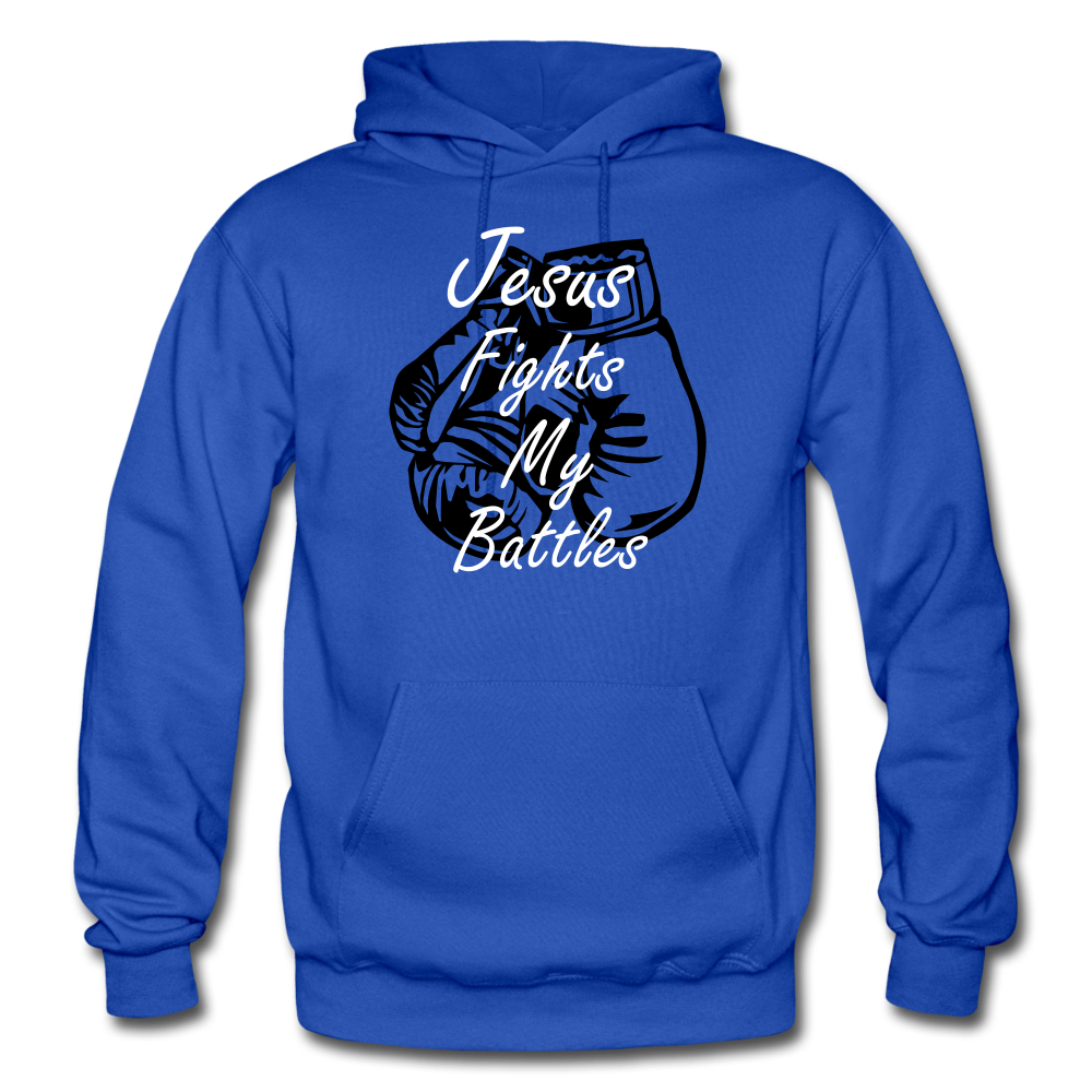 Jesus Fights - royal blue