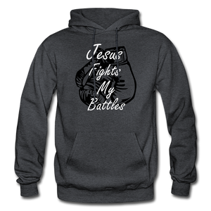 Jesus Fights - charcoal gray