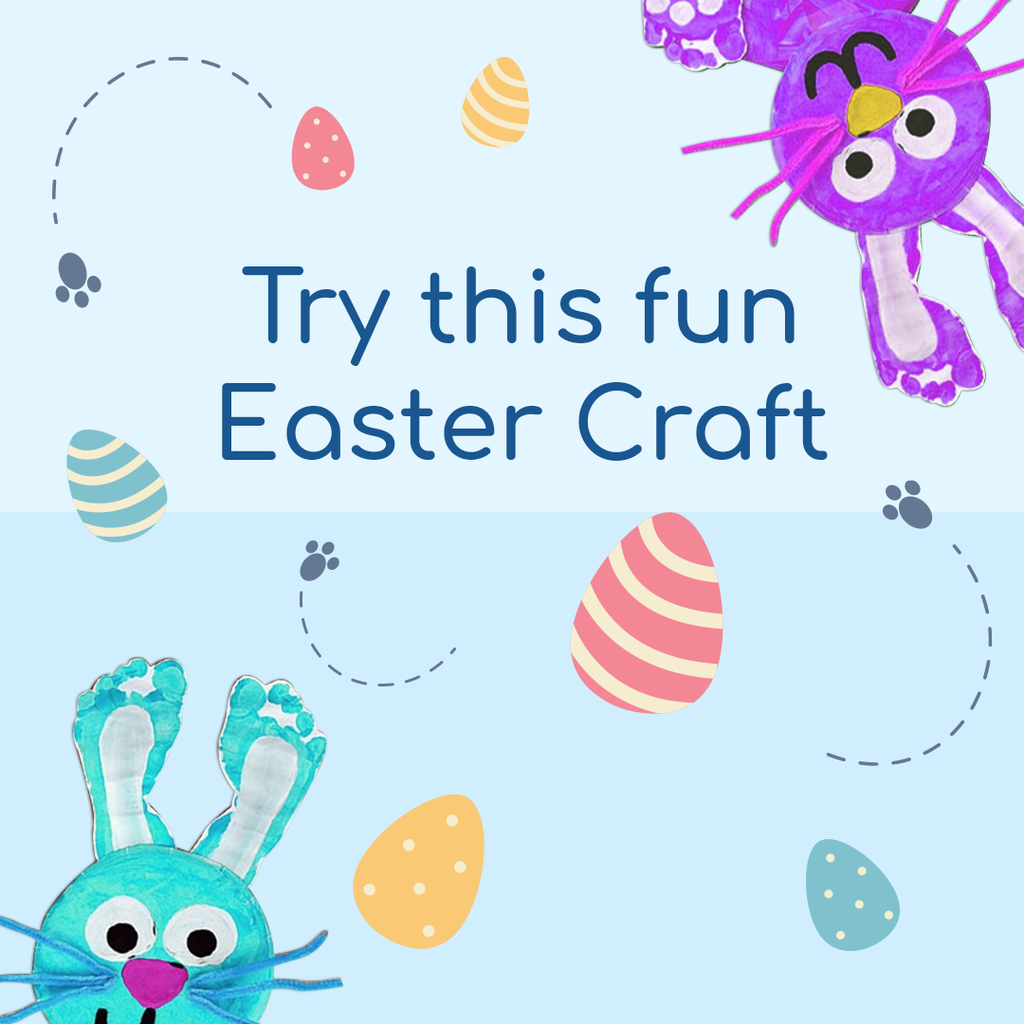 Fun Easter Activity | Foot print bunnies!