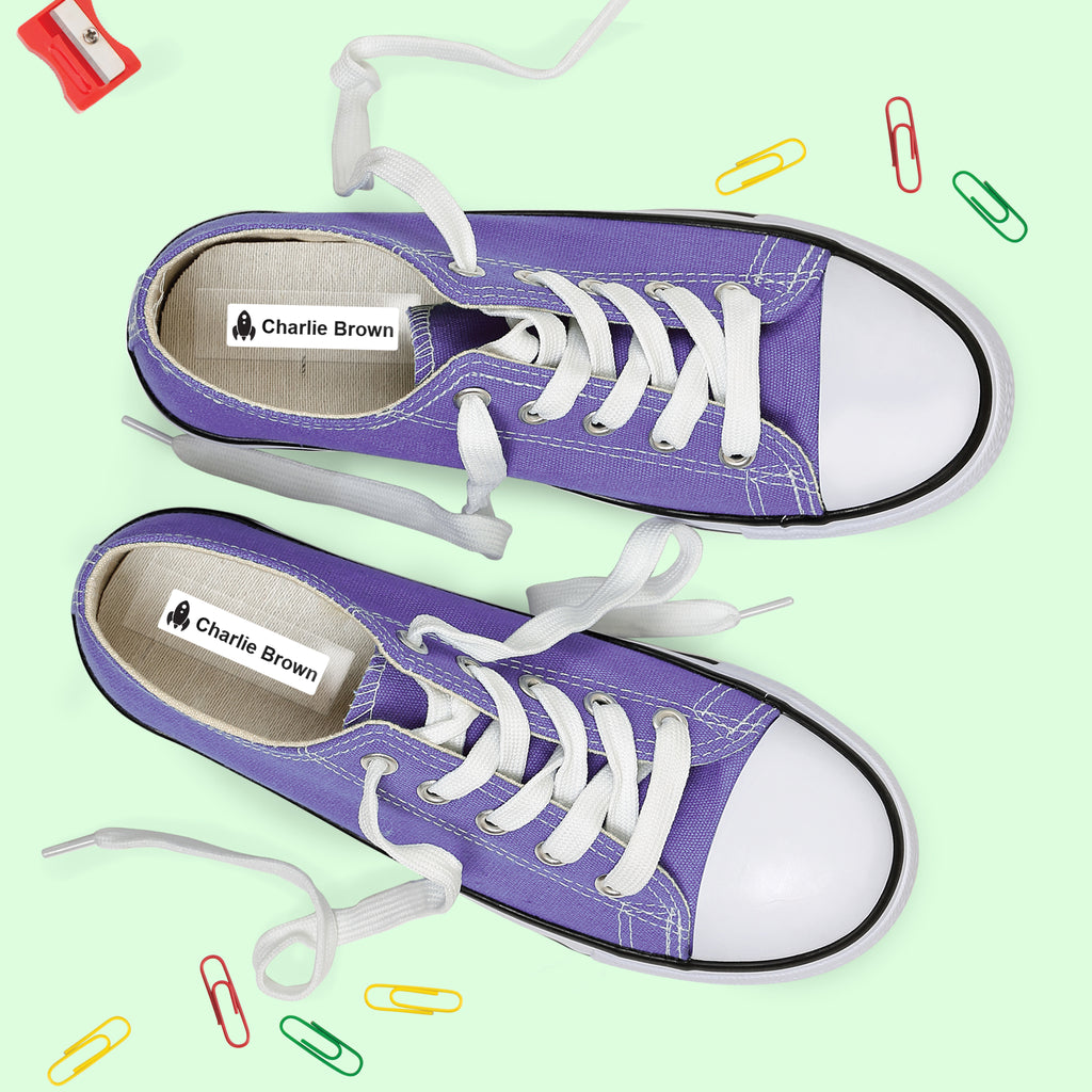 durable shoe name labels in sneaker shoes