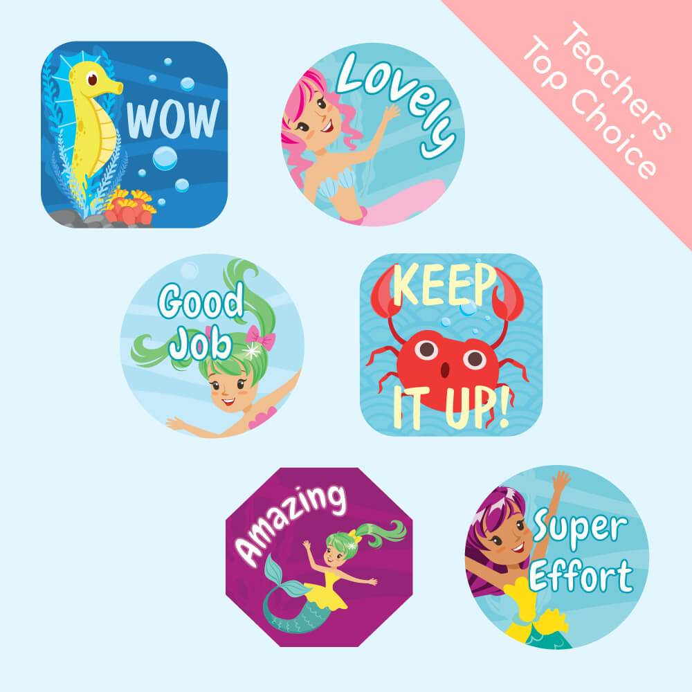 Mermaid Reward Stickers