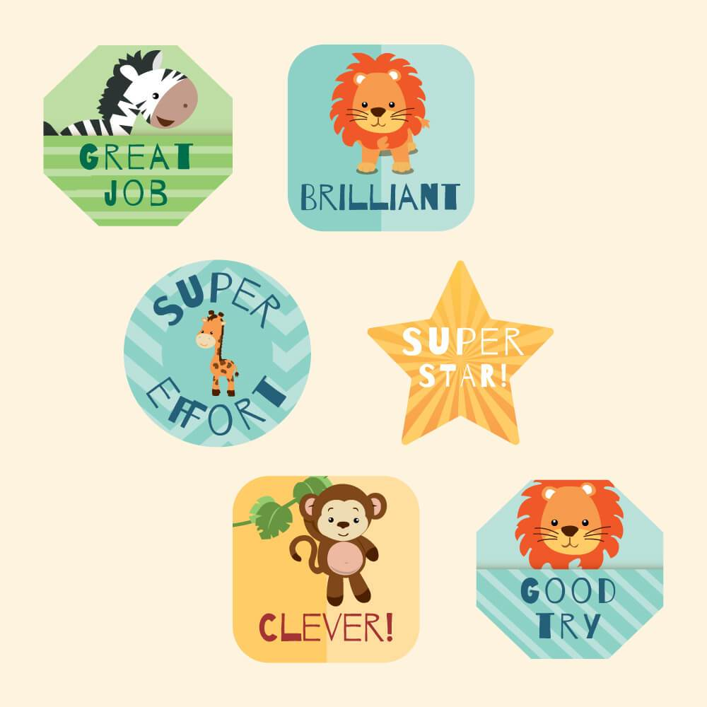 Baby Animals Reward Stickers