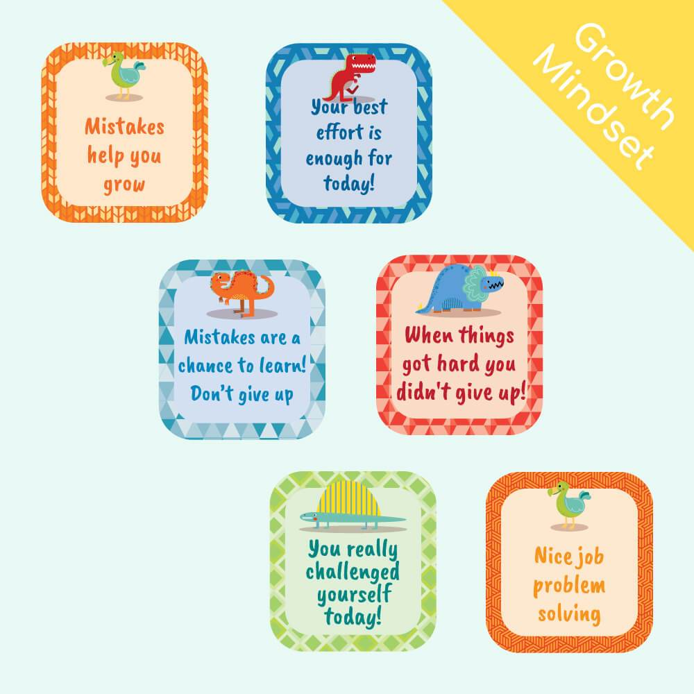 Dinsoaur Reward Stickers (Growth Mindset)