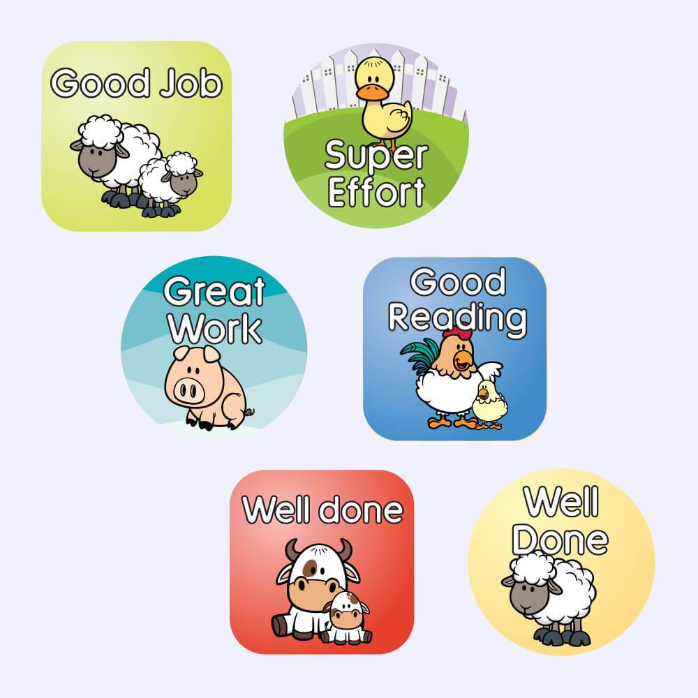 Farm Animals Reward Stickers