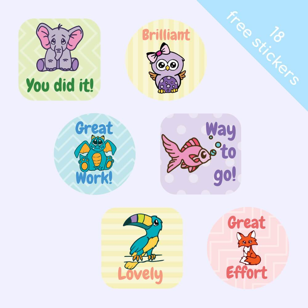 Pastel Reward Stickers