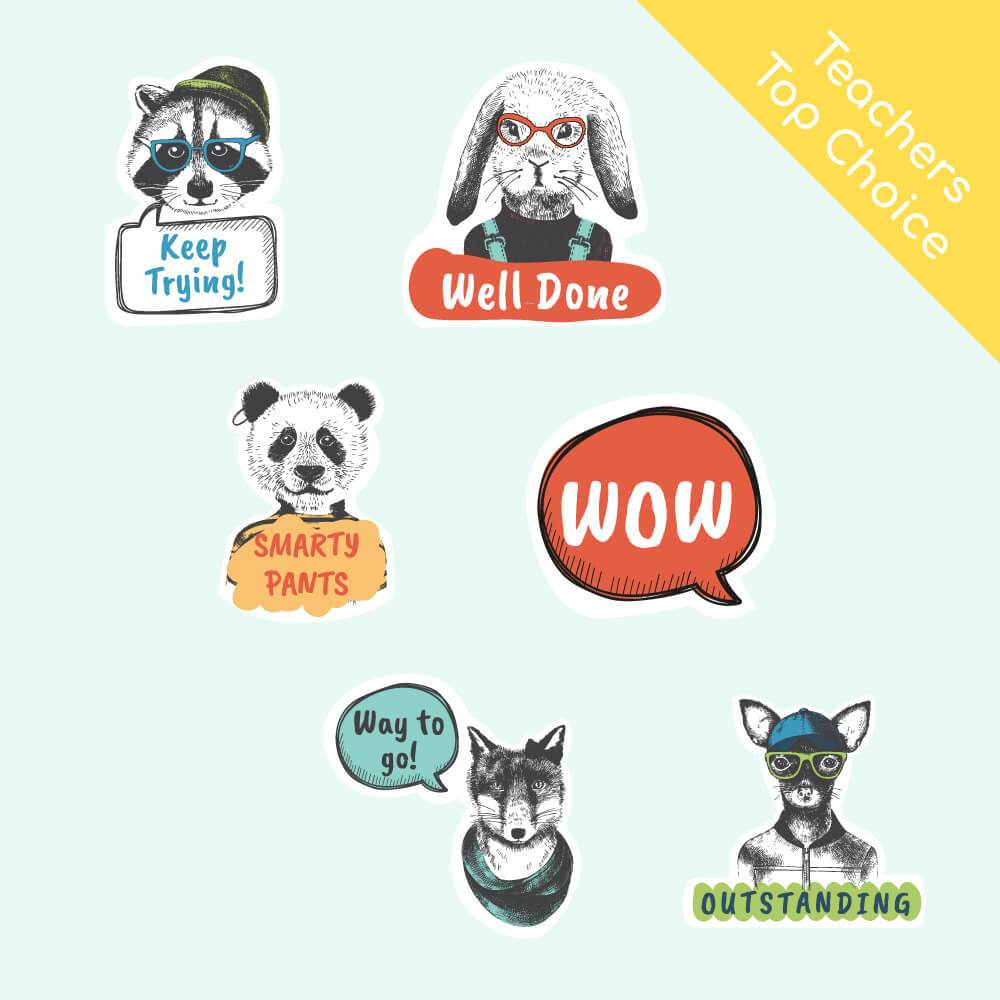 Woodland Creatures Reward Stickers
