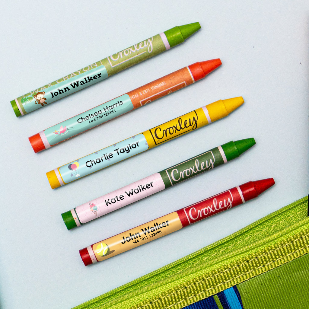 waterproof multi purpose name labels on pens in colour