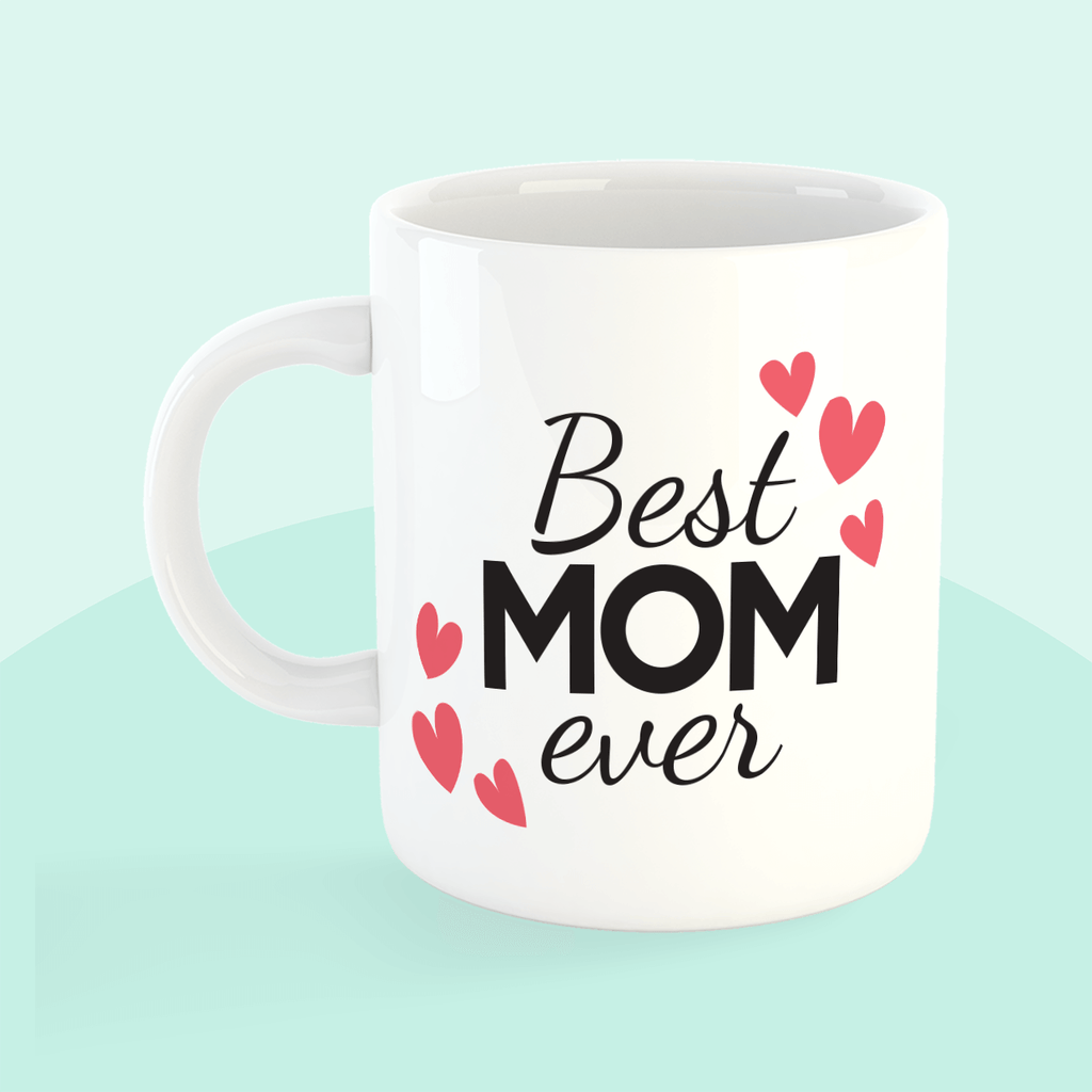 Best Mom Ever Hearts Mug