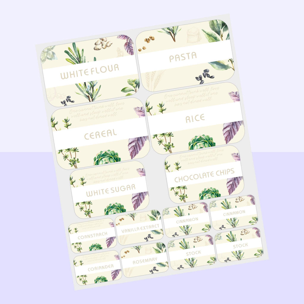 Floral Pantry Labels