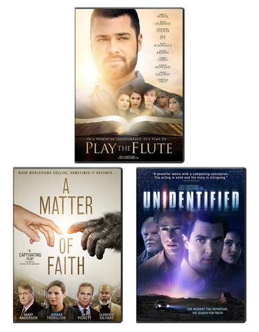 Play The Flute, A Matter Of Faith, Unidentified - DVD 3-Pack