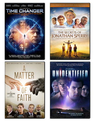 Time Changer, The Secrets of Jonathan Sperry, A Matter of Faith, Unidentified - DVD Pack