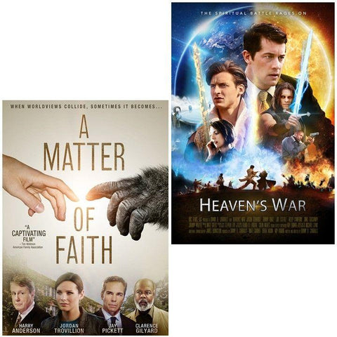 heavens war matter faith movie dvd 2 pack