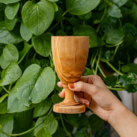 Tall Olive Wood Cup