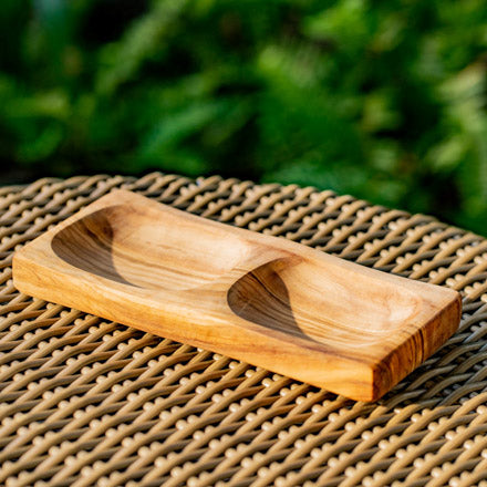 Twin Olive Wood Plate